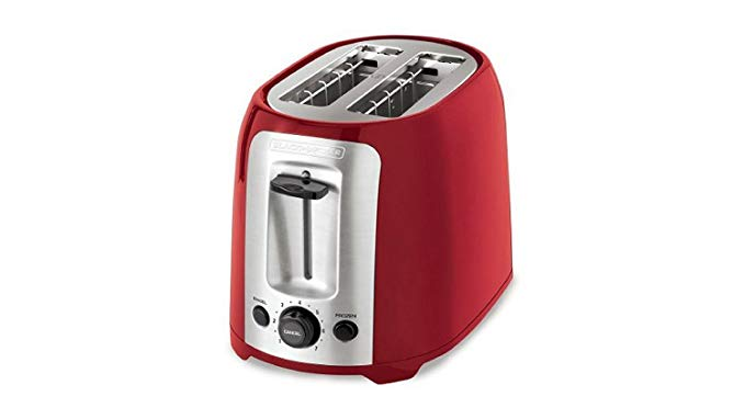 An image of BLACK+DECKER 2-Slice Red 7-Mode Toaster | The Top Toasters