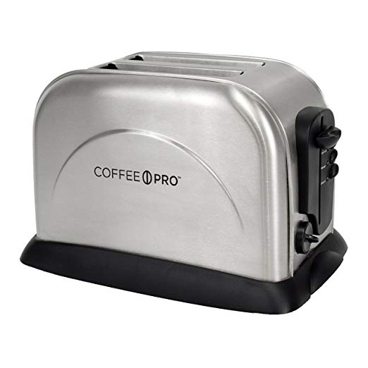An image of CoffeePro CFPOG8073 Stainless Steel 2-Slice Silver 6-Mode Wide Slot Toaster
