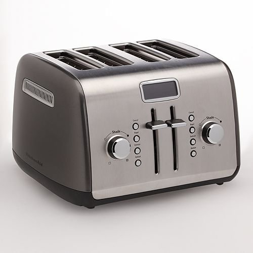 An image of KitchenAid KMT422QG 4-Slice Liquid Graphite Toaster | The Top Toasters