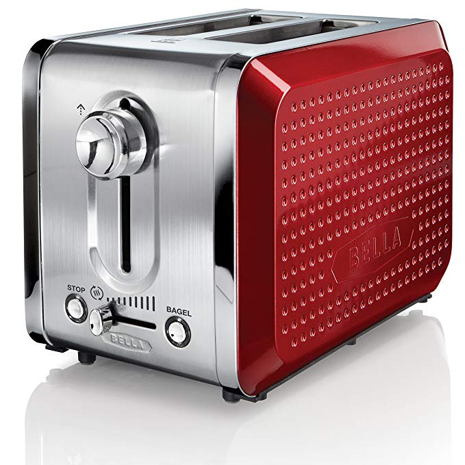 An image related to BELLA 2-Slice Red Long Slot Toaster