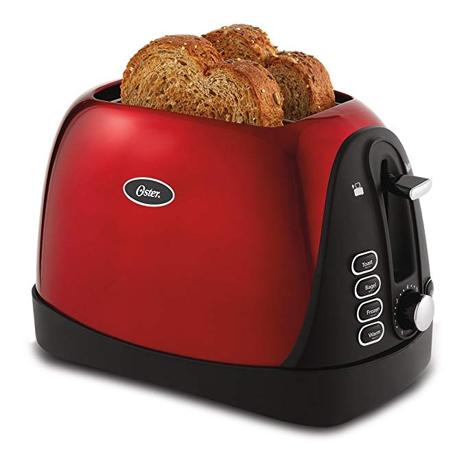 An image of Oster Stainless Steel 2-Slice Metal 7-Mode Wide Slot Toaster