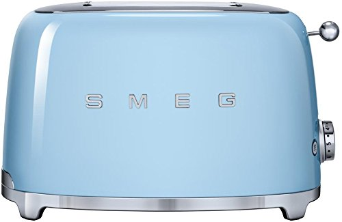 An image related to Smeg Stainless Steel 2-Slice Blue 6-Mode Toaster