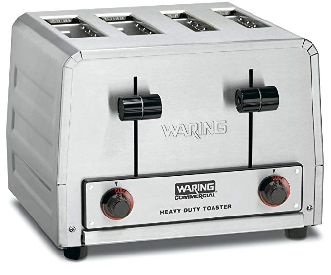 An image of Waring WCT815B 2025W Stainless Steel Wide Slot Toaster | The Top Toasters