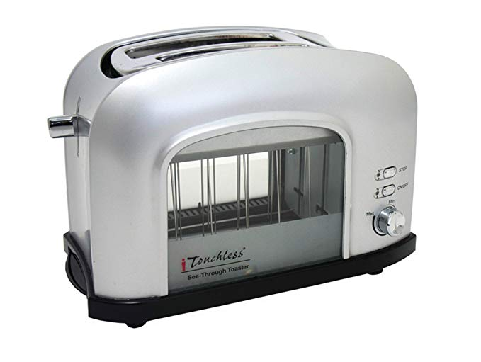 An image of ITouchless 2-Slice Silver Cool Touch Toaster