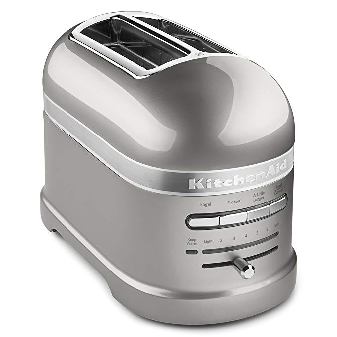 An image of KitchenAid 2-Slice Silver 7-Mode Toaster | The Top Toasters