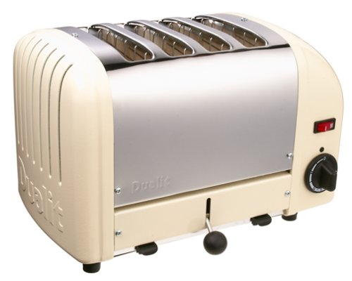 An image of Dualit Stainless Steel 4-Slice Classic Cream Wide Slot Toaster | The Top Toasters