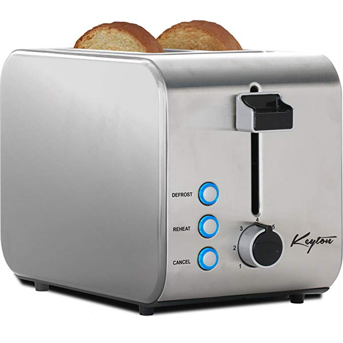 An image of Keyton K1-TOASTERSS Stainless Steel 2-Slice 7-Mode Toaster | The Top Toasters