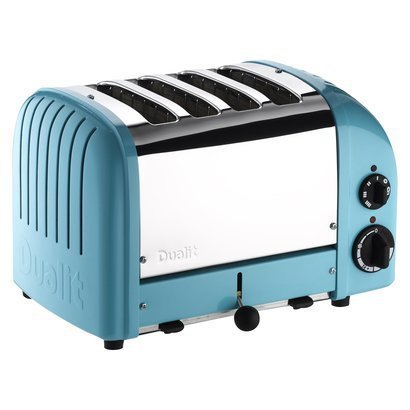 An image related to Dualit Stainless Steel 4-Slice Classic Azure Blue Toaster