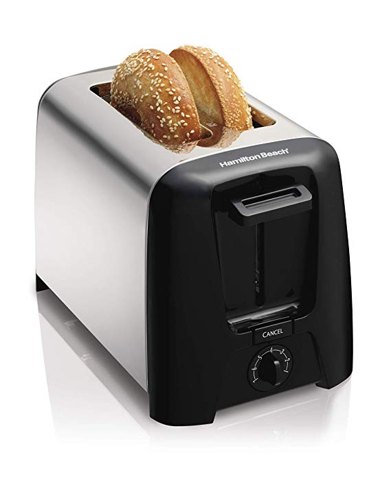 An image related to Hamilton Beach 2-Slice Chrome Cool Touch Wide Slot Toaster