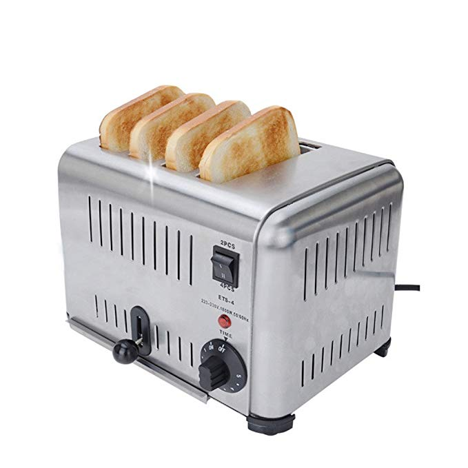An image of Huanyu 800W Stainless Steel 4-Slice Toaster   The Top Toasters