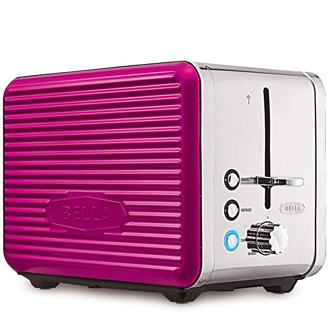 An image of BELLA 2-Slice Pink Wide Slot Toaster