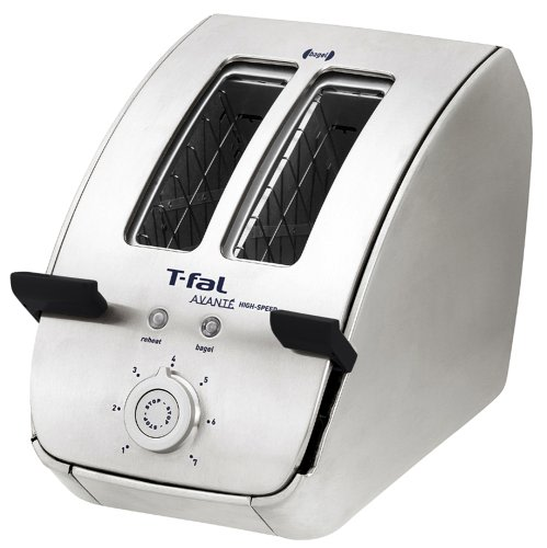 An image related to T-Fal 1200W Stainless Steel 2-Slice 7-Mode Cool Touch Wide Slot Toaster