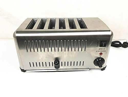 An image of JIAWANSHUN 220V Stainless Steel 6-Slice Toaster | The Top Toasters