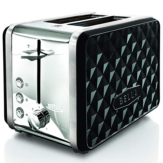 An image related to BELLA 2-Slice Black Wide Slot Toaster