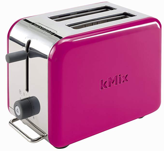 An image of DeLonghi 2-Slice Magenta Long Slot Toaster