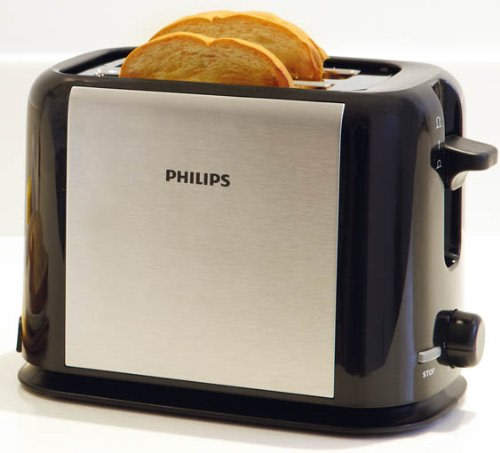 An image of Philips 950W Stainless Steel Metal 7-Mode Cool Touch Toaster