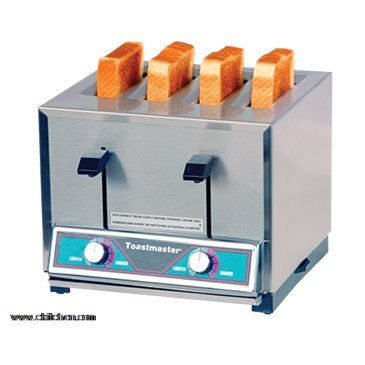 An image of Toastmaster TP430-208C Stainless Steel 4-Slice Long Slot Toaster