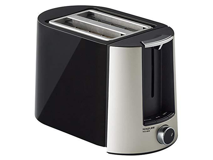 An image of Koizumi KOS-0850K 800W Black 6-Mode Compact Toaster