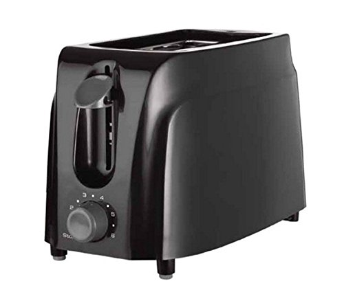 An image of DormCo 2-Slice Black 6-Mode Cool Touch Wide Slot Toaster