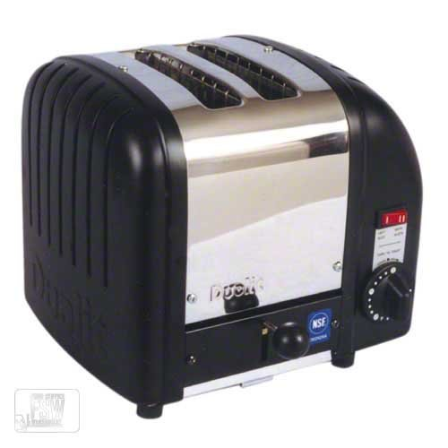 An image of Dualit CTB-2 Stainless Steel 2-Slice Black Toaster