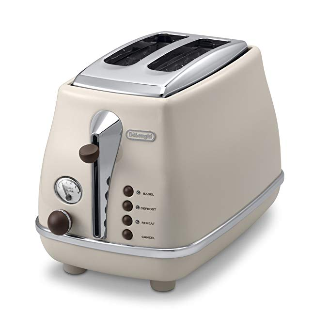 An image related to DeLonghi CTOV2003J-BG 900W Vintage Beige 6-Mode Long Slot Toaster