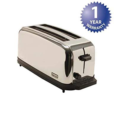 An image related to Waring 222-1275 1500W Stainless Steel Toaster