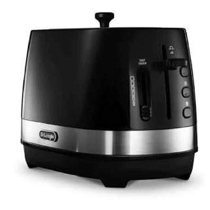 An image of DeLonghi CTLA2003J-BK 800W Black 6-Mode Long Slot Toaster