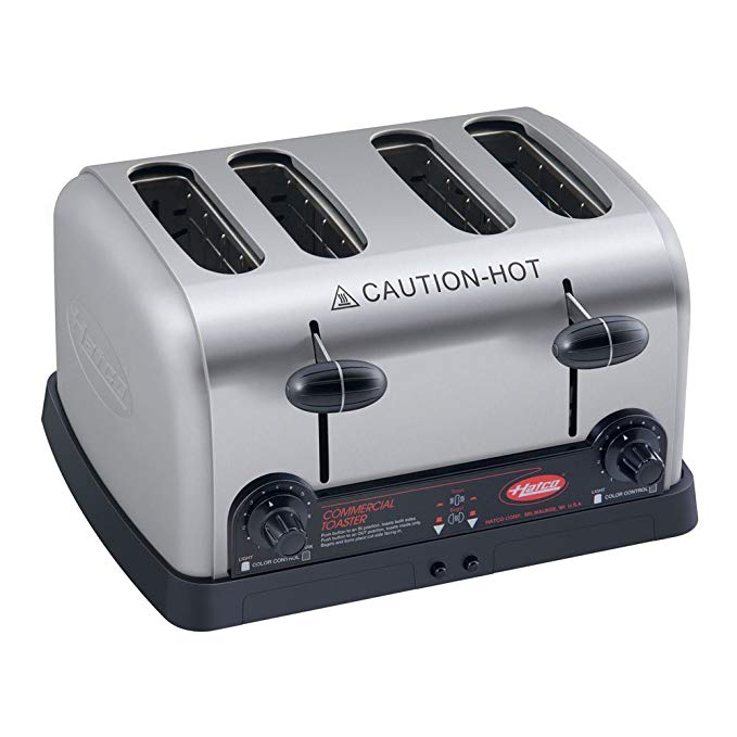 An image of Hatco TPT-208 2700W 4-Slice Wide Slot Toaster | The Top Toasters