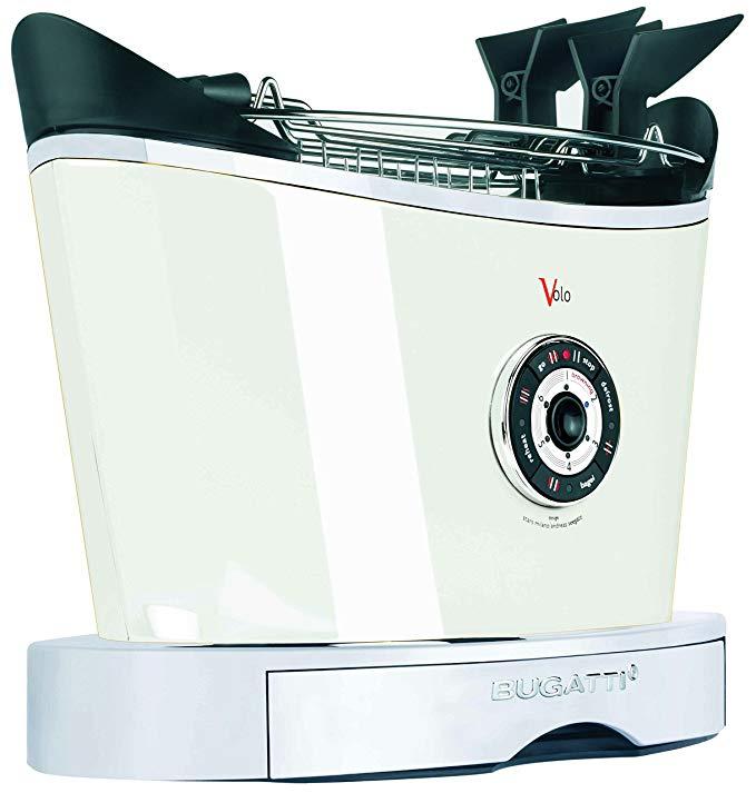 An image of Bugatti 850W White 6-Mode Toaster