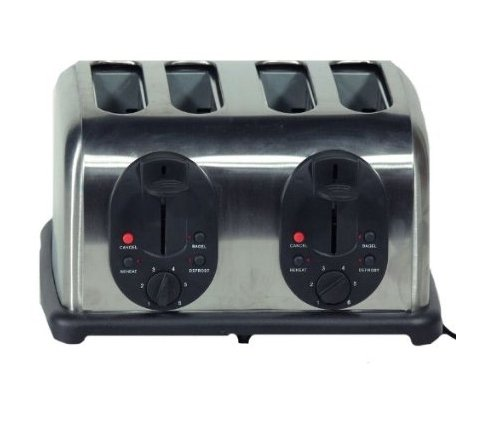 An image related to Essential Home EN10016 1500W 4-Slice Silver Toaster