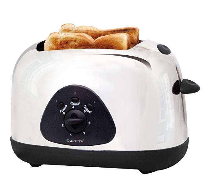 An image of Lloytron 700W Stainless Steel 2-Slice 7-Mode Toaster