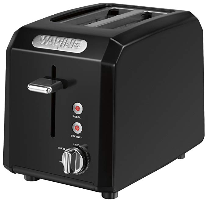 An image related to Waring 1000W 2-Slice Black Cool Touch Wide Slot Toaster