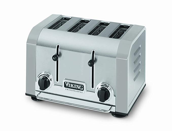 An image of Viking 1000W Gray Wide Slot Toaster | The Top Toasters