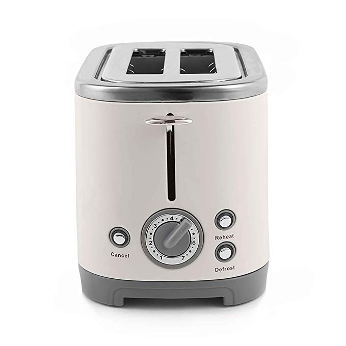 An image related to Vintage Quisine V31017 2-Slice Vintage Cream 6-Mode Compact Wide Slot Toaster