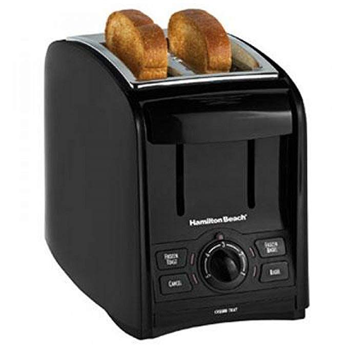 An image of Hamilton Beach 2-Slice Black 5-Mode Cool Touch Wide Slot Toaster