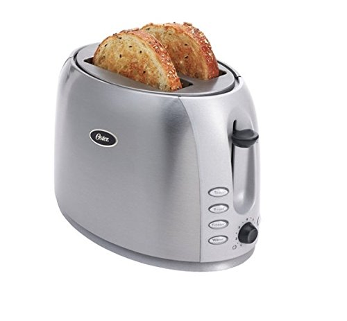 An image of Oster 006594-000-000 Stainless Steel 2-Slice 7-Mode Wide Slot Toaster | The Top Toasters