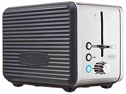 An image related to BELLA 900W 2-Slice Gray Wide Slot Toaster
