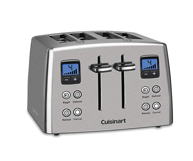 An image of Cuisinart CPT-435 Stainless Steel 4-Slice 6-Mode Compact Wide Slot Toaster