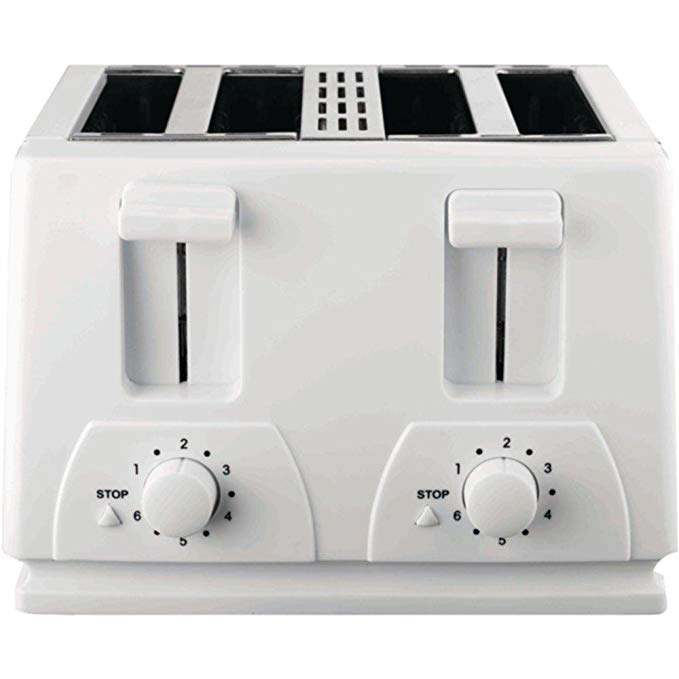 An image of Brentwood 4-Slice White 6-Mode Toaster