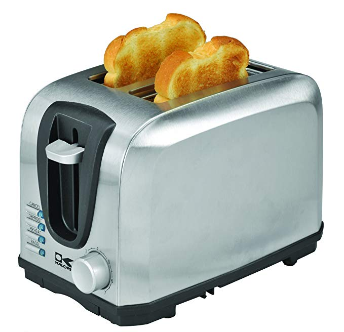 An image of Kalorik 700W Stainless Steel 2-Slice Modern Wide Slot Toaster