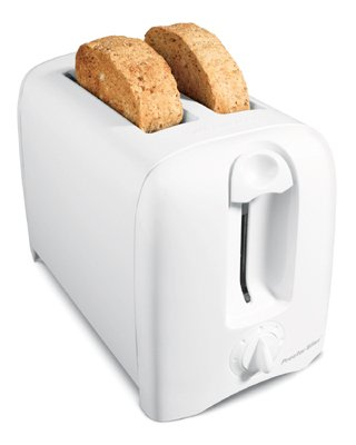 An image of Hamilton Beach 2-Slice White Wide Slot Toaster | The Top Toasters