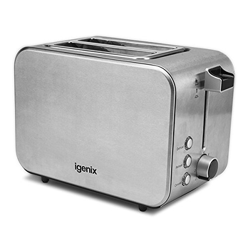 An image related to Igenix 1000W Stainless Steel 2-Slice 7-Mode Toaster