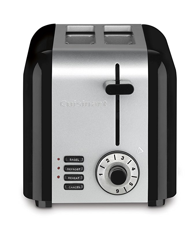 An image of Cuisinart Stainless Steel 2-Slice Classic 6-Mode Compact Wide Slot Toaster