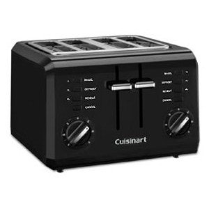 An image related to Cuisinart 4-Slice Classic Black 7-Mode Compact Wide Slot Toaster