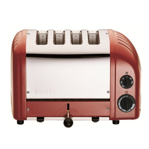 An image related to Dualit 4-Slice Classic Red Wide Slot Toaster