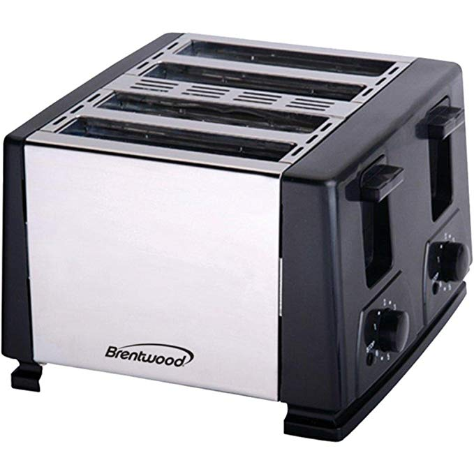 An image of Brentwood BTWTS284 4-Slice Black 6-Mode Toaster