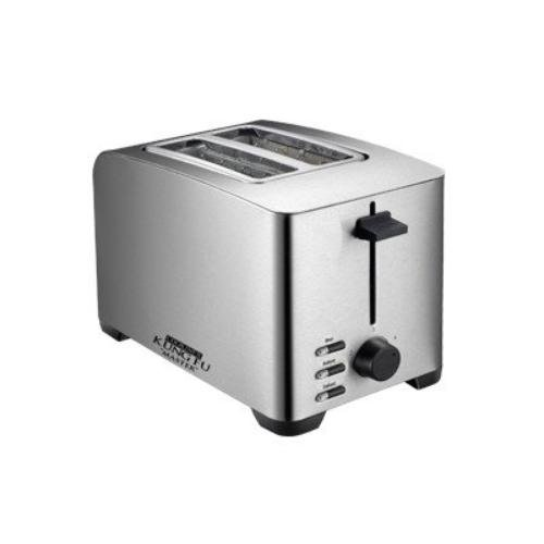 An image related to Cookinex KF-6300 850W Stainless Steel 2-Slice Silver Toaster