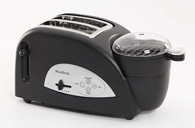 An image of West Bend 2-Slice Black Wide Slot Toaster