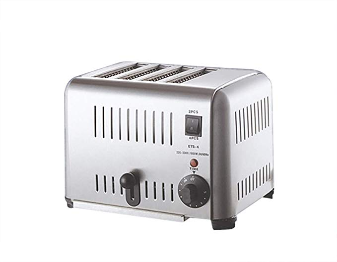 An image of JIAWANSHUN 110V Stainless Steel 4-Slice Toaster | The Top Toasters