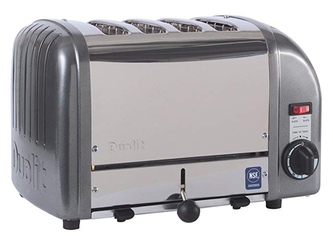 An image of Dualit CTW-4M 2080W Gray Toaster | The Top Toasters